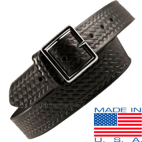 "Men Boston Leather 1-3//4/"" Garrison Belt 6605 USA MADE BLACK 30-60 Plain Buckle"