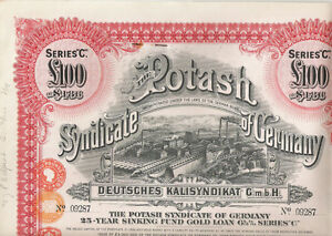 Potash-Syndicate-of-Germany-1929-LB-100-Sinking-Fund-Gold-Loan