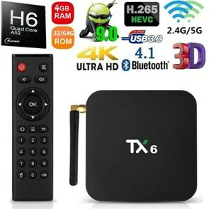 TX6 Allwinner H6 Quad Core Android 9 0 TV BOX USB WiFi 4K