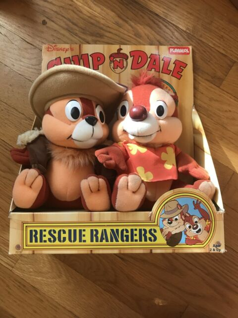 1989 Disney Playskool Rescue Rangers Chip Dale Vintage 80s Plush Toy