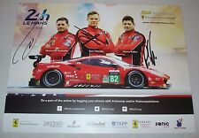 Le Mans 2017 IMSA Risi Competizioni Racing With Ferrari GTE PRO #82 Signed Card