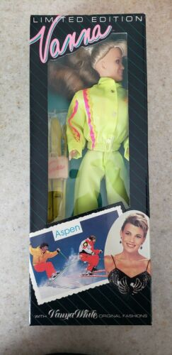 Barbie doll 1992 VANNA WHITE in ASPEN Yellow Jumpsuit  NRFB