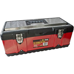Heavy-Duty-23-Inch-Stainless-Steel-Tool-Box-Chest-Storage-Case-Removable-Tray