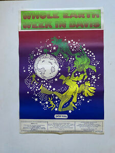 PETER-MAX-First-Ever-Whole-Earth-Week-Festival-Poster-Original-1970-Rare