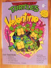 Teenage Mutant Ninja Turtles Fun Time Book Poster Valentines Games Vintage 1990