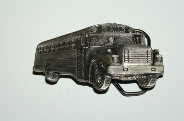 1982 School Bus Belt Buckle The Great American Buckle Company #1026