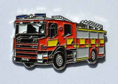 Fire Engine pin badge Emergency Services enamel pin badge