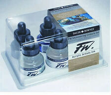 Daler Rowney FW Shimmering 6 x 29.5ml Colours Set Acrylic Artists Ink