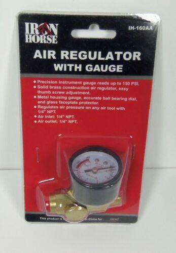 Wood Industries Iron Horse Air Regulator with Gauge Solid Brass 150 PSI IH-160AA
