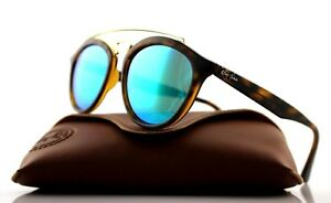 NEW-Authentic-Ray-Ban-GATSBY-II-Tortoise-Green-Mirror-Sunglasses-RB-4257-6092-3R