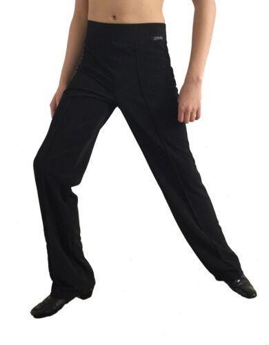 LATIN DANCE PRACTICE TROUSERS ELASTICATED STRETCHY MENS BALLROOM HIGH WAIST