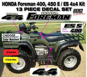 Honda Foreman 400 450 S ES 4x4 OEM Decal Emblem Sticker Kit forman ATV quad set