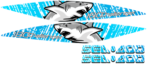 Graphic CHALLENGER 18 180 1800 set SEADOO STICKERS vinyl wrap 2005 2010 shark