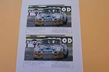 RX Feuille A4 papier PORSCHE 911 carrera RSR 1973 Le Mans N°46 Château Heco 1/43