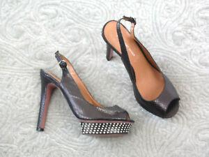 514d4ae63a KG by KURT GEIGER Womens Size 3 Hendrix Black Snakeskin Platform ...