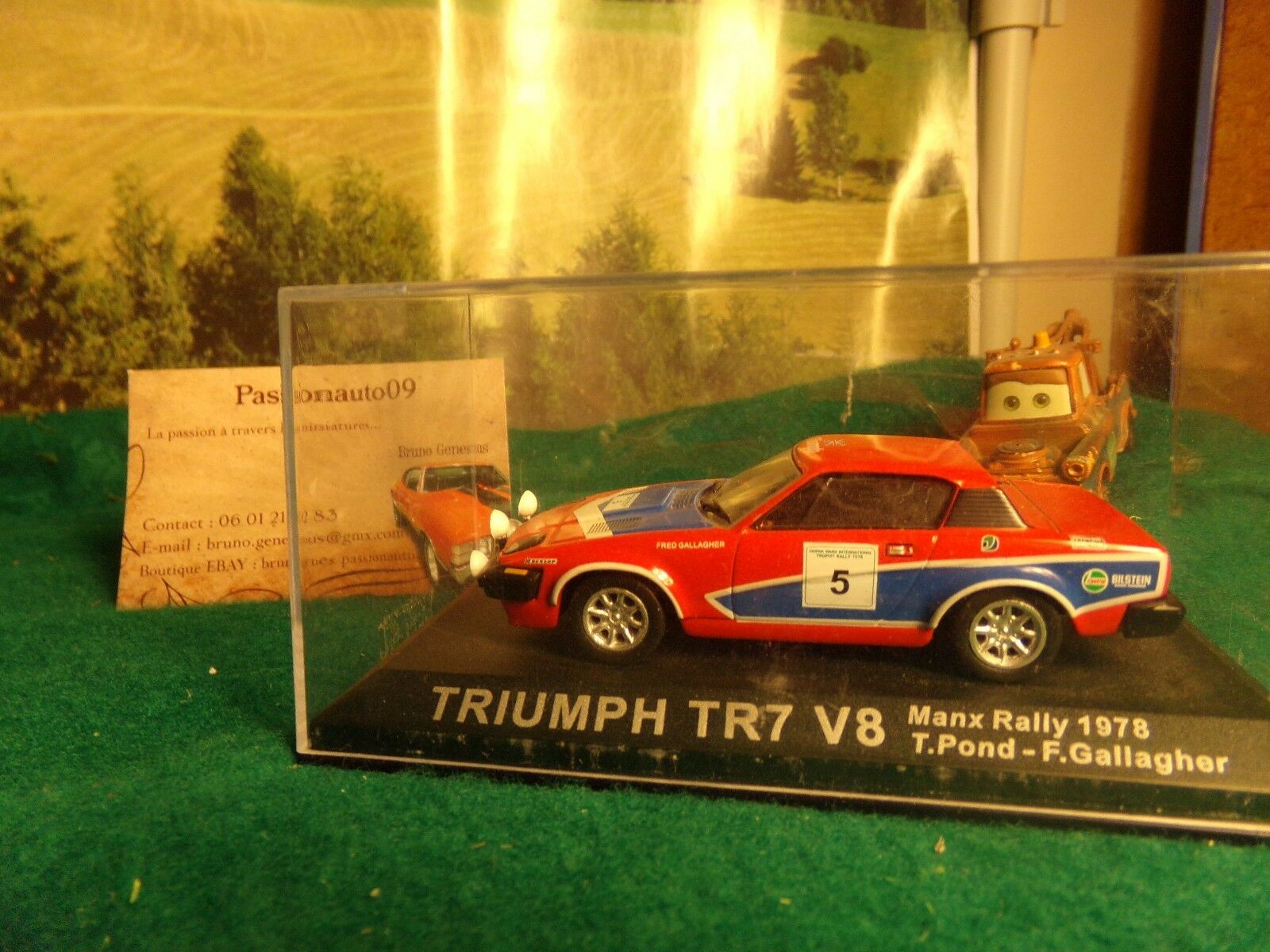 TRIUMPH TR7 V8 RALLY MANX 78 POND GALLAGIER car miniature 1 43 collection
