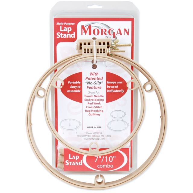 """Morgan Products 266 Lap Stand Combo 7/"""" /& 10/"""" Hoops"""