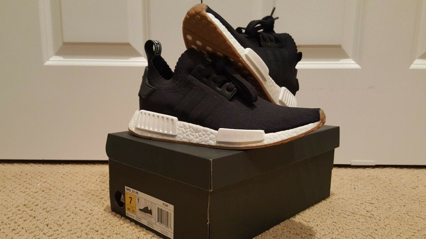 Adidas, 7, Mens, NMD R1 Gum Pack Black, Deadstock
