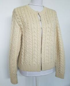 Paul-James-Womens-S-Cable-Cardigan-Sweater-Made-in-England-100-Wool