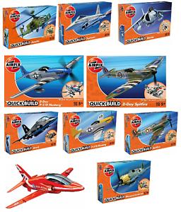 Airfix Quick Build Model Starter Kits War Aircraft Jet Fighter Plane Sets 5yo+