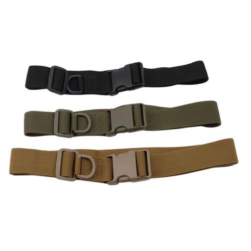 Men Outdoor Tactical Belt Bag Heavy Duty Army Waist Web Strap Waistband QK