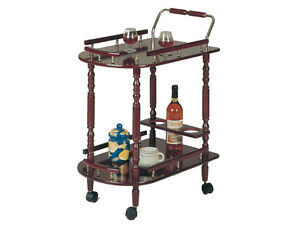 Cherry-Color-Kitchen-Serving-Cart-With-Wine-Mini-Bar-Free-Shipping