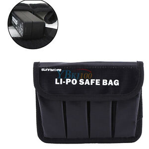 Black Anti-Explosion Lipo Battery Safe Storage Guard Bag Pouch For DJI OSMO BT