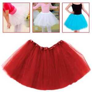 Tutu-Elastico-de-Tul-con-3capas-Falda-Disfraz-Ballet-para-Ninas-Bebes-Color-Rojo