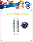 2 x Inline Carbon Fridge Water Filters with Connectors Samsung, LG, Westinghouse