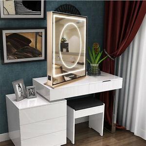 Dressing Table Makeup Mirror Desk Dresser Bedroom Led