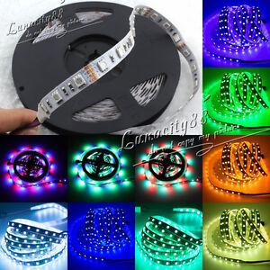 3528-5050-5630-SMD-5M-White-RGB-300-Waterproof-LED-Flexible-Strip-Light-IR-Power