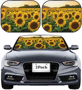 Front Windshield Sun Shade window UV protector car truck Sunflower Field