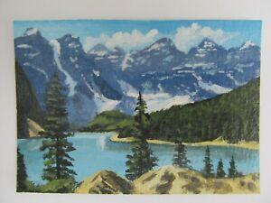 ACEO-Original-Acrylic-Painting-Landscape-Canadian-Wilderness-Artist-Joan-Hutson