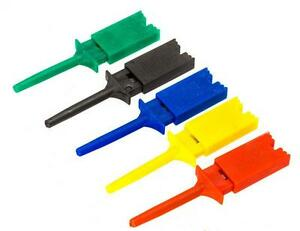 10 Pcs Test Clip Mini Grabber SMD IC Hook Probes Jumper GS