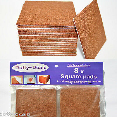 Self Adhesive Protective Wooden Flooring Protection Felt Protect Pads 8 Square