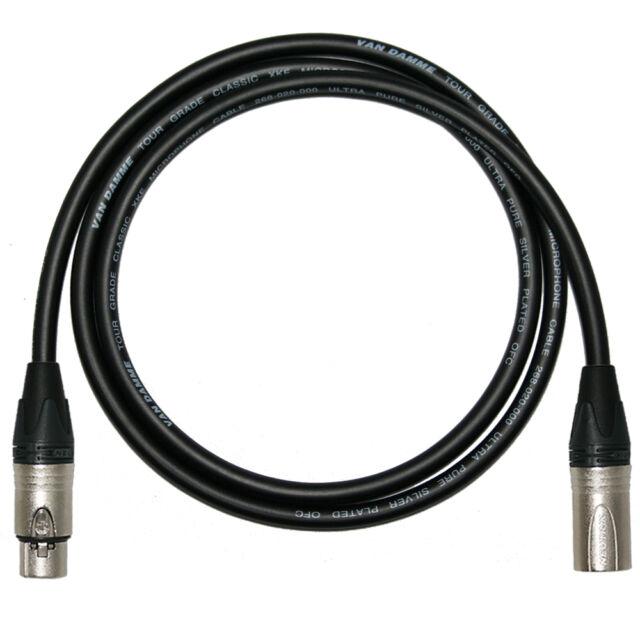 Van Damme Mic Cable. Neutrik XLR XLR Cables. Balanced Microphone Patch Lead