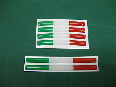 SET 0F 6 DOMED ITALIAN FLAG STICKERS