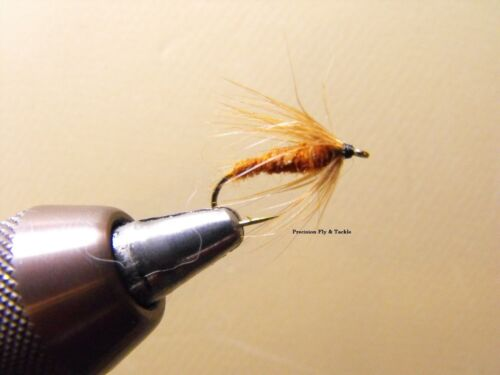 Nymph Wet Fly Trout Wet Fly 1 Dzn Caddis Brown Soft Hackle