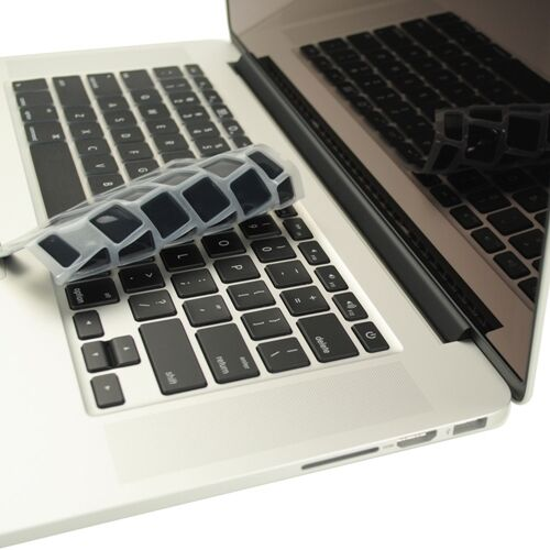 "Sleeve Bag 4 in1 Crystal GREY Case for Macbook PRO 15/"" Retina Key Cover LCD"