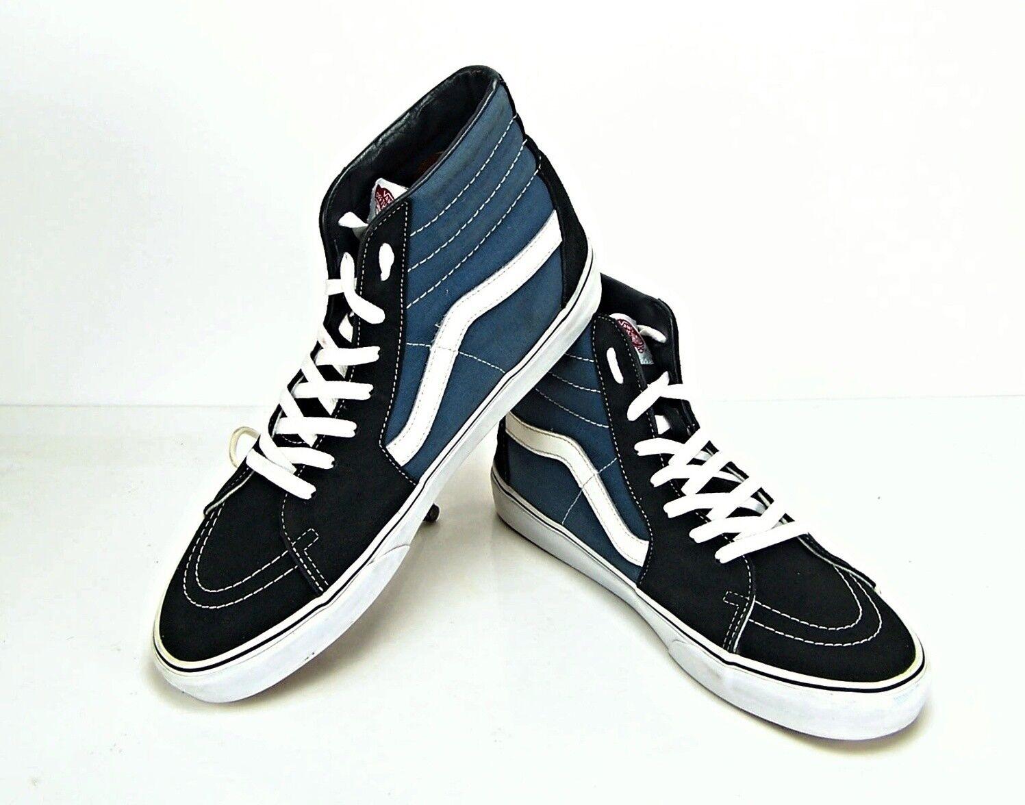 Vans SK8 Hi Tops Black High Blue Mens Size 13 High Black Top Trainers Excellent Condition 0c33bd