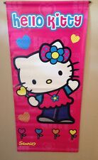 "Sanrio Hello Kitty 2003 Promotional In Store Vinyl Banner 47"" x 21"" RARE!! EUC!!"
