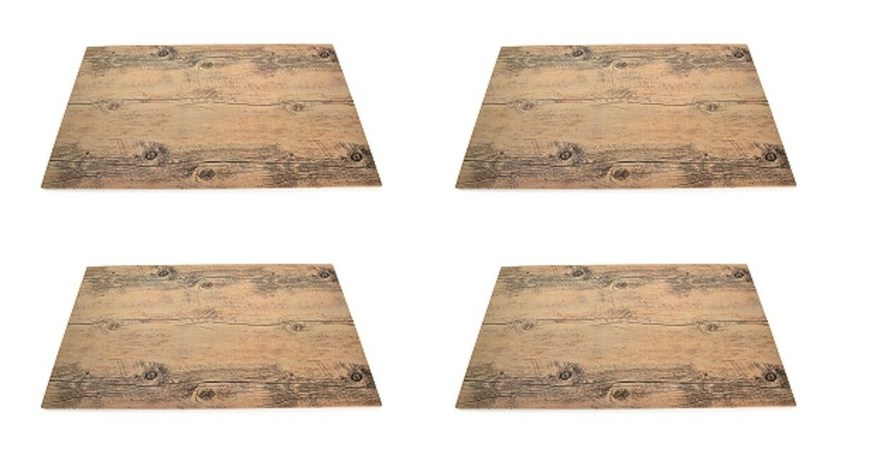 4x Melamin Buffetplatte in Holzoptik, Melaminplatte, Holzplatte, GN1/1:53x32,5cm