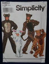 Simplicity 9983 Sewing Pattern Halloween Costume Size BB 2-12 Boys & Girls