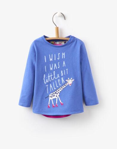 /%/% Joules Tom Joule shirt Girafe Ava Bleu Taille 98-152 NEUF/%/%