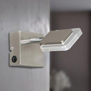 Wofi-Led-Lampara-Pared-Vileta-1-Luz-Niquel-Interruptor-Ajustable-4-5-Vatios