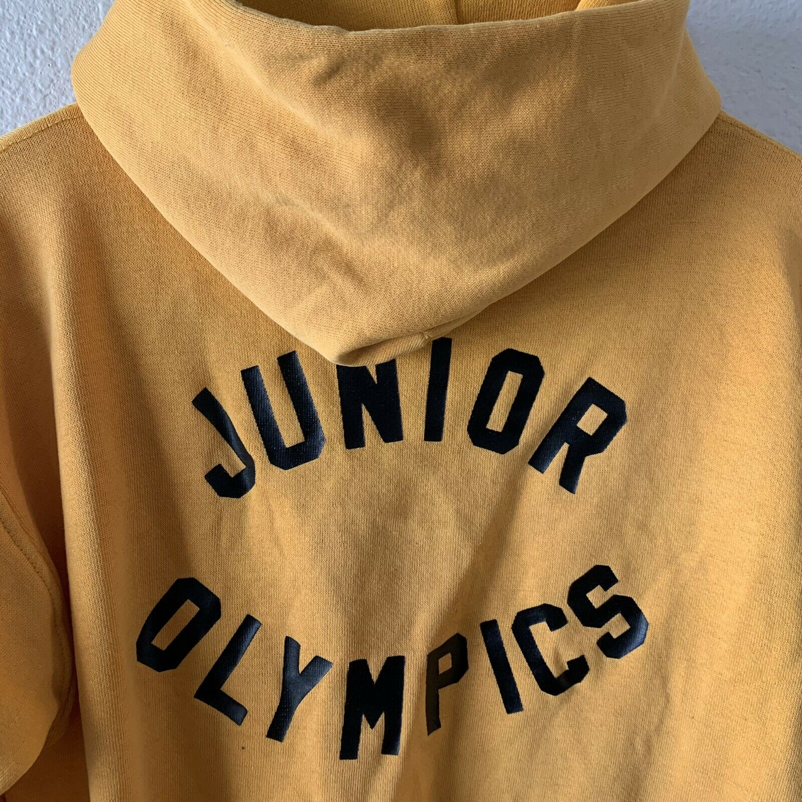Vintage 70s Hoodie Sweatshirt Junior Olympics Rus… - image 1
