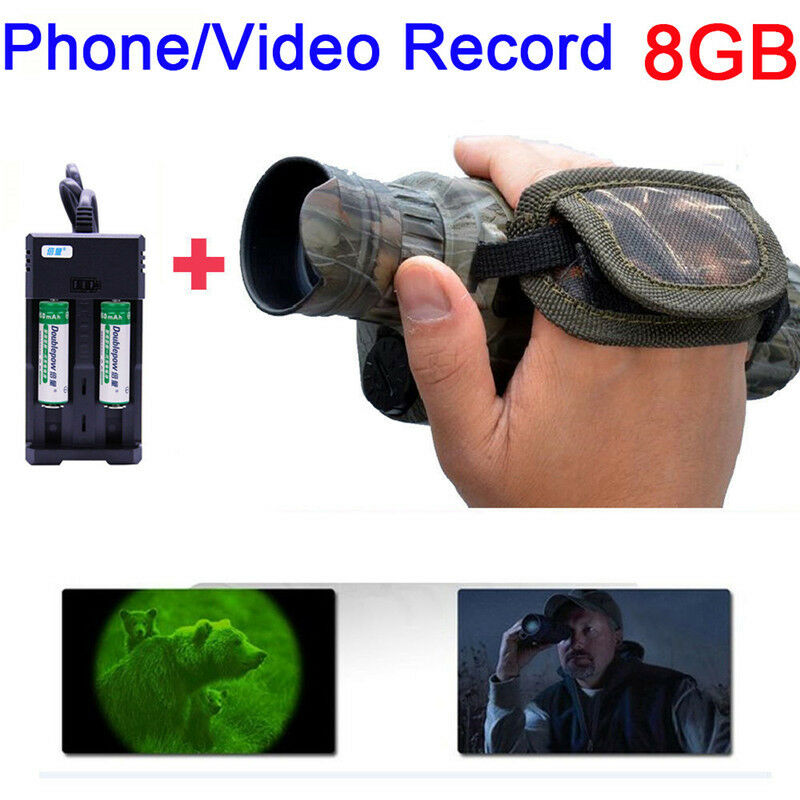 WG-37 5x40 Monocular IR Night Vision 5MP Hunting Viewing Range+14500 Charger Set