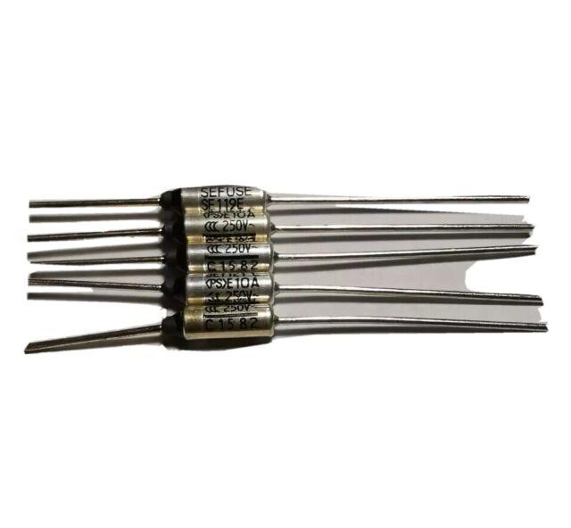 5pcs SF119E Cutoffs Thermal Fuse 121°C Celsius Degree 10A 250V Sw MCEW/_jy