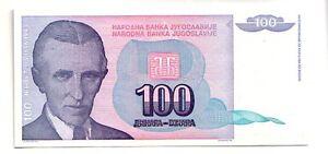Yugoslavia-100-dinara-1994-FDS-UNC-pick-139-a-lotto-3283