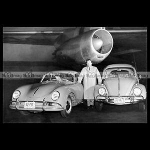 pha-009823-Photo-PORSCHE-356-VOLSWAGEN-BEETLE-amp-FERRY-PORSCHE-1958-Car-Auto